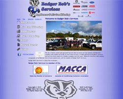 Badger Bob's Services Custom Website re-Design