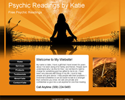 Psychic Readings By Katie Website Design