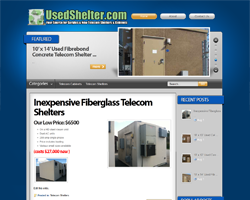 Used Telecom Shelters for sale at surplus/discount prices!